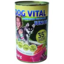 Dog Vital Junior konzerv Beef&carrot 1240gr