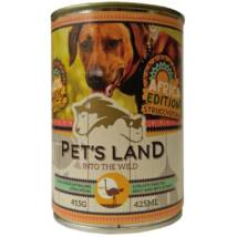 Pet s Land Dog Konzerv Strucchússal Africa Edition 415g