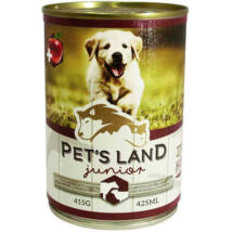 Pet s Land Dog Junior Konzerv Marhamáj-Bárányhús almával 415g
