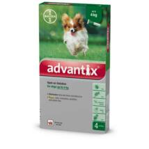 Advantix spot on 0,4ml (4kg alatt) 4x