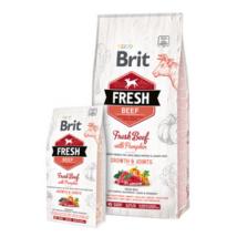 Brit Fresh Marha és Sütőtök Puppy Large Bones & Joints 2,5 kg