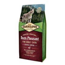 Carnilove Cat Adult Kacsa & fácán – Hairball Control 2kg