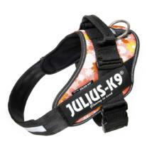 """Julius-K9 IDC Powerhám, felirattal, méret 1 """"Rózsaszínen virágok"""""""