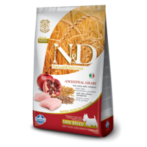 N&D Low Grain Dog Csirke&gránátalma adult mini 800g kutyatáp