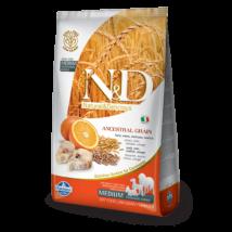 N&D Low Grain Dog Tőkehal&Narancs adult medium 12kg