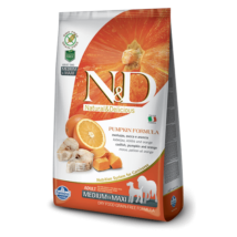 N&D Dog Grain Free tőkehal&narancs sütőtökkel adult medium/maxi 12kg kutyatáp