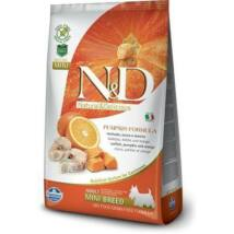 N&D Dog Grain Free tőkehal&narancs sütőtökkel adult mini 800g kutyatáp