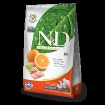 N&D Grain Free hal&narancs adult medium 2,5kg kutyatáp