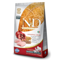 N&D Grain Free csirke&gránátalma adult medium 12kg kutyatáp