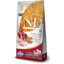 N&D Low Grain Dog Csirke&gránátalma senior medium/maxi 12kg kutyatáp