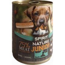 Spirit of Nature Dog konzerv Junior Bárányhússal és nyúlhússal 415gr kutyatáp