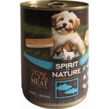 Spirit of Nature Dog konzerv Tonhallal és lazaccal 415gr kutyatáp