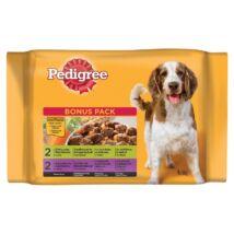 Pedigree Alutasakos 100g 4Pack Adult Csirke&zöldség, Marha&zöldség kutyatáp