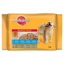 Pedigree Alutasakos 100g 4Pack Junior Csirke&rizs, Marha&rizs kutyatáp