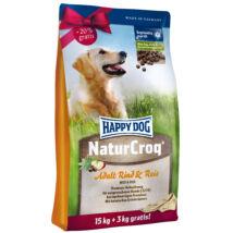 Happy Dog Natur-Croq Rind & Reis 15 kg+3 kg kutyatáp