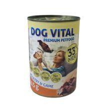 Dog Vital konzerv poultry&game 415gr