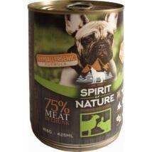 Spirit of Nature Dog konzerv Bárányhússal és nyúlhússal 415gr kutyatáp