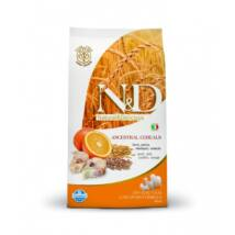 N&D Low Grain Dog Tőkehal&narancs adult medium 800g kutyatáp