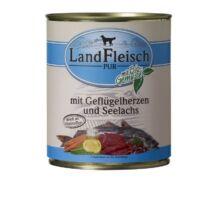 Landfleisch Dog Konzerv Baromfiszív + Lazac 800g kutyatáp