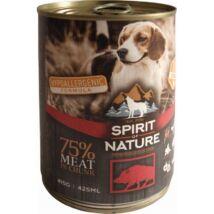 Spirit of Nature Dog konzerv Vaddisznóhússal 415gr kutyatáp