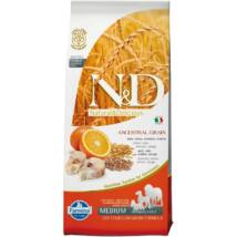 N&D Low Grain tőkehal&narancs adult medium 12kg kutyatáp