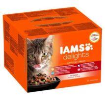 Iams Cat Delights Land&sea Multipack Szószban 24x85gr