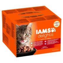 Iams Cat Delights Land&sea Multipack Aszpikban 24x85gr