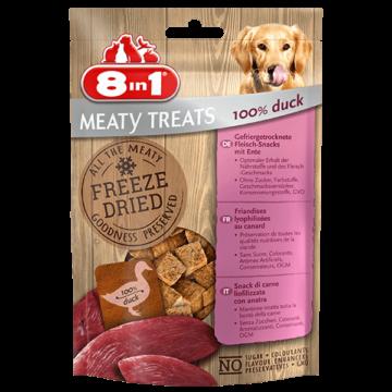 8in1 Meaty Treats- fagyasztva szárított jutalomfalatok kutyáknak 100% kacsából 50g
