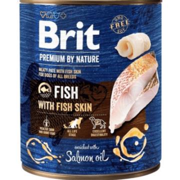 Brit Premium by Nature Adult Fish with Fish Skin konzerv 800g