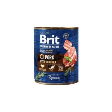 Brit Premium by Nature Adult Pork with Trachea konzerv 800g