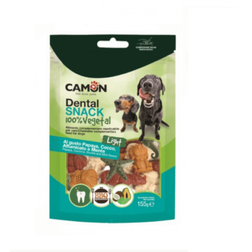 Camon Dental Snack S 100% Vegán, Light, BBQ-Kókusz, Menta- és Papaya  ízű 155g