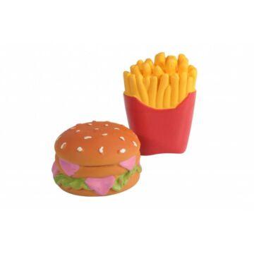 Camon Latex Játék Burger&Chips 6cm