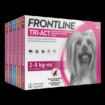 Frontline Tri-Act Rácsepegtető oldat kutyáknak 2-5kg 3X