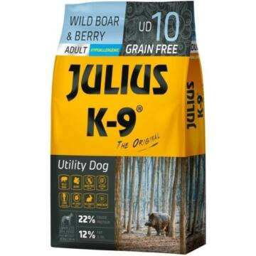 Julius-K9 GF Hypoallergenic Utility Dog Adult Wild Boar & Berry 3kg