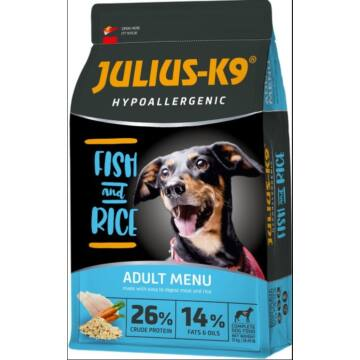 Julius-K9 Hypoallergenic Adult Fish & Rice 12kg