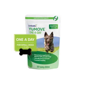 Lintbells YUMOVE One a day falatka kistestű kutyáknak 30 db