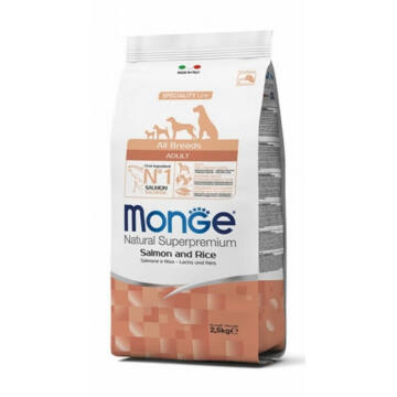 Monge All Breeds Adult Salmon and Rice száraz kutyatáp 12kg