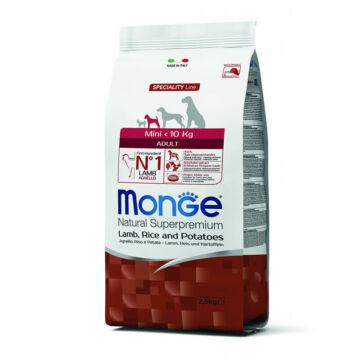 Monge Mini Adult Lamb, Rice and Potatoes 15 kg kutyatáp