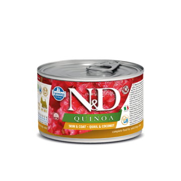 N&D Dog Quinoa konzerv fürj&kókusz 140g