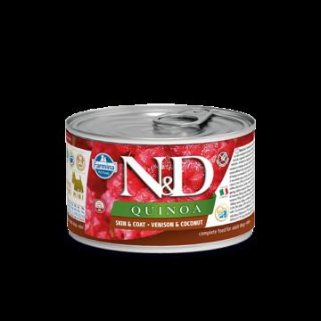 N&D Dog Quinoa konzerv szarvas&kókusz adult mini 140g
