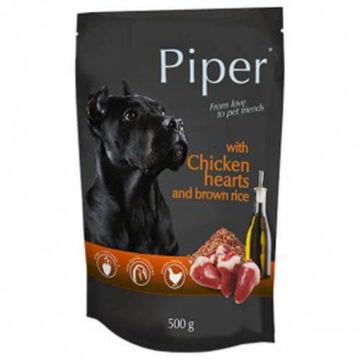 PIPER ADULT alutasak felnőtt kutyáknak csirkeszívvel és barna rizzsel 500g