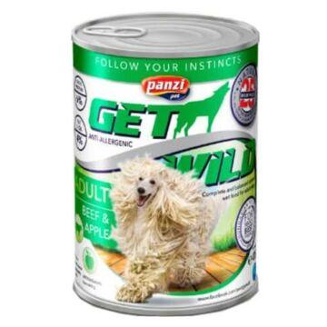 Panzi GetWild Dog Adult Beef & Apple konzerv 415g