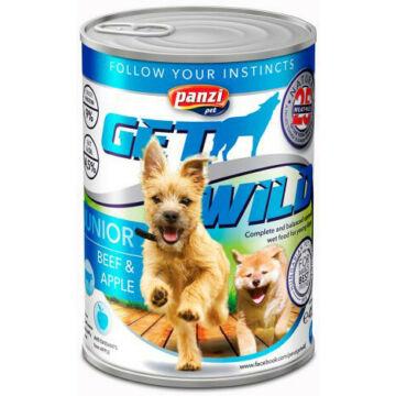 Panzi GetWild Dog Junior Beef & Apple konzerv 415g