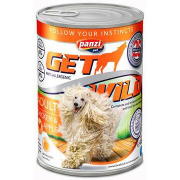 Panzi GetWild Dog Adult Chicken & Apple konzerv 1240g