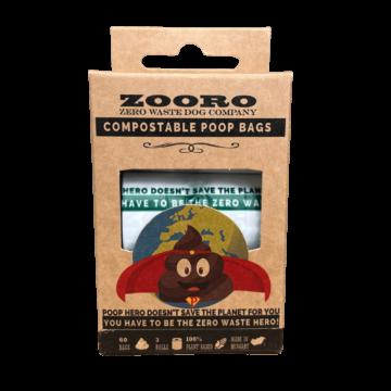 Zooro - PoopHero Lebomló Kakizacskó, 60 db-os kiszerelés