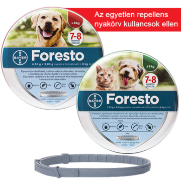 Foresto bolhanyakörv nagytestű kutya 8 kg felett