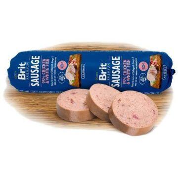 Brit Premium Sausage Chicken & White fish kutyaszalámi 800g