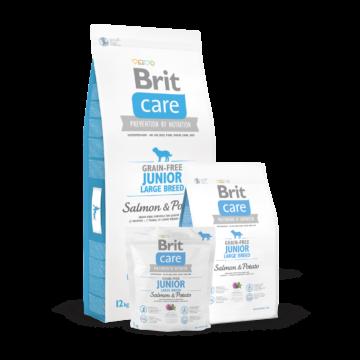 Brit Care Grain-free Junior Large Breed Salmon & Potato 1 kg kutyatáp