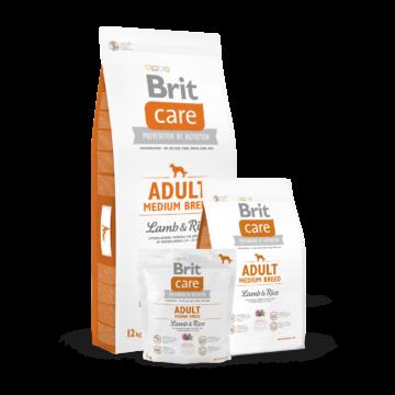 Brit Care Adult Medium Breed Lamb & Rice 1 kg kutyatáp