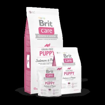 Brit Care Grain-free Puppy Salmon & Potato 1 kg kutyatáp